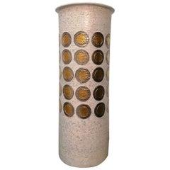 Bitossi Stoneware Chamotte Extra Large Vase, Italy, 1970