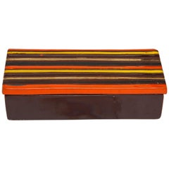 Bitossi Striped Ceramic Box, Signed
