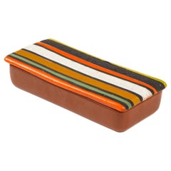 Bitossi Thailandia Box, Ceramic, Stripes, Signed