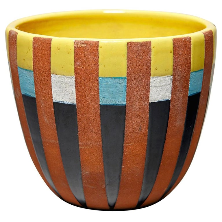 Bitossi Vase Attributed to Ettore Sottsass, circa 1958 For Sale