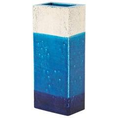 Bitossi Vase, Ceramic, Blue, White, Signed