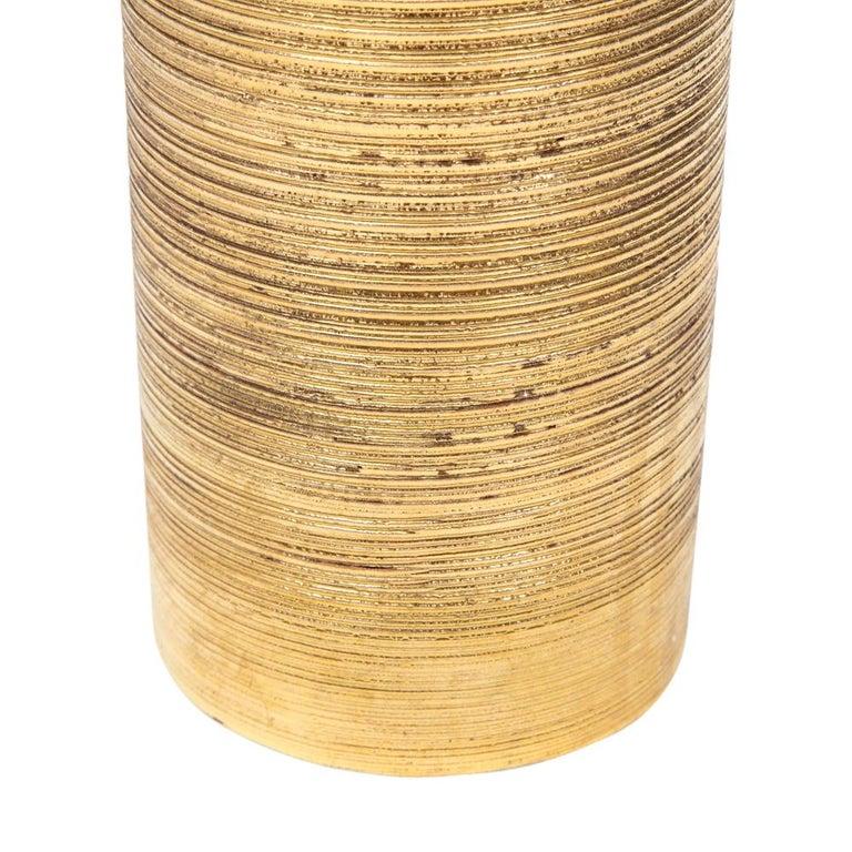 Bitossi Vase, Ceramic, Brushed Gold For Sale 4