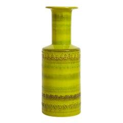 Bitossi Vase, Ceramic Chartreuse, Signed