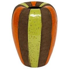 Bitossi Vase, Ceramic Moorish Stripes, Signed
