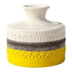 Bitossi Vase, Ceramic, Yellow and White