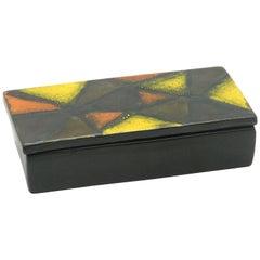 Bitossi Vetrata Pattern Covered Box by Aldo Londi, Italy, circa 1965