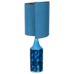 Bittosi Ceramic Table Lamp with New Silk Custom Made Lampshade René Houben, 1960