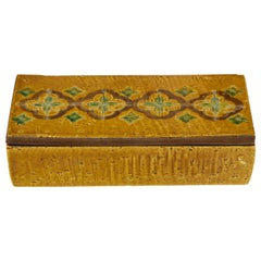 Bittosi Ochre Glazed, Incised Ceramic Box