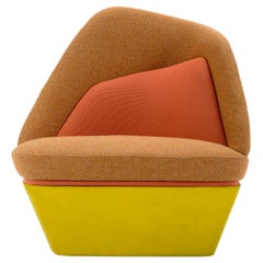 Bixib Armchair with Silk Base by Luca Alessandrini