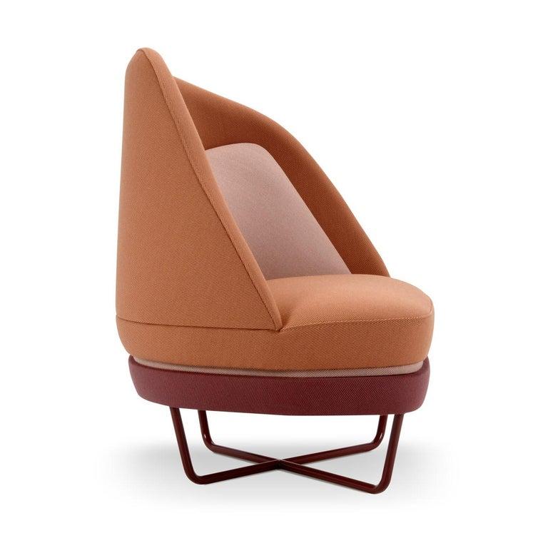 Modern Bixib Armchair with Tubular Base by Luca Alessandrini For Sale