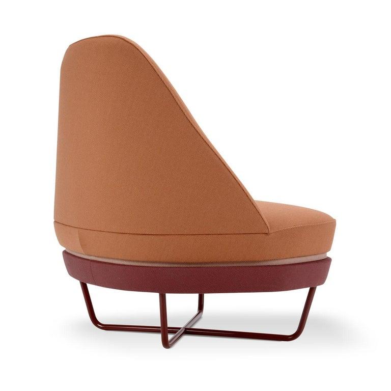 Italian Bixib Armchair with Tubular Base by Luca Alessandrini For Sale