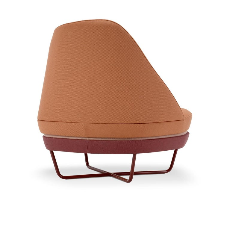 Bixib Armchair with Tubular Base by Luca Alessandrini In New Condition For Sale In Milan, IT