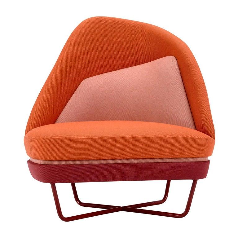 Bixib Armchair with Tubular Base by Luca Alessandrini For Sale