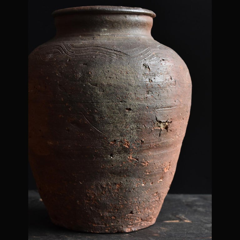 Bizen Pot with Wave Patterns in Japan circa 15th Century 'Muromachi Period' For Sale 5
