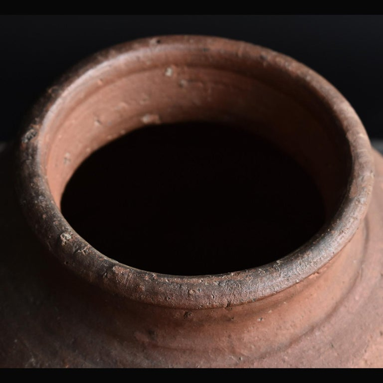 18th Century and Earlier Bizen Pot with Wave Patterns in Japan circa 15th Century 'Muromachi Period' For Sale