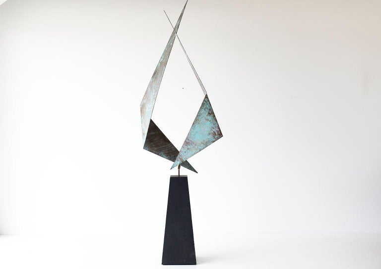 Late 20th Century BJ Keith Transcendent Brass Sculpture for C Jere Artisan House For Sale