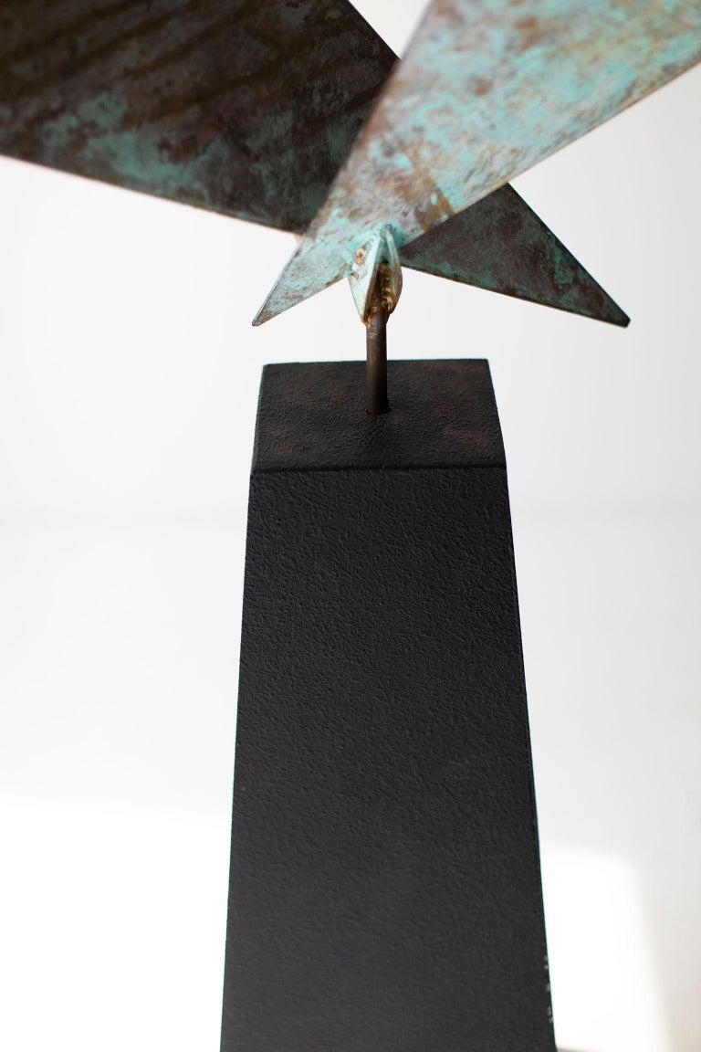 BJ Keith Transcendent Brass Sculpture for C Jere Artisan House For Sale 1