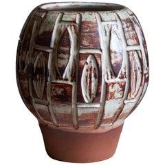 Björn Backhausen, Vase, Glazed Stoneware, Denmark, 1960s
