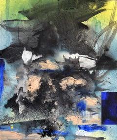 Slow Detonation, Painting, Acrylic on MDF Panel