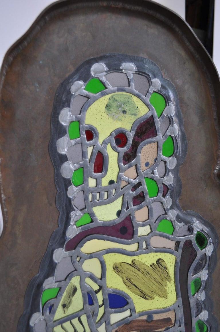 Bjørn Nørgaard, freestanding glass mosaic sculpture -