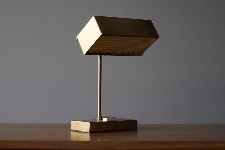 "Mid-Century Modern Björn Svensson, Adjustable ""Elidus"" Table Lamp, Brass, Sweden, 1970s For Sale"