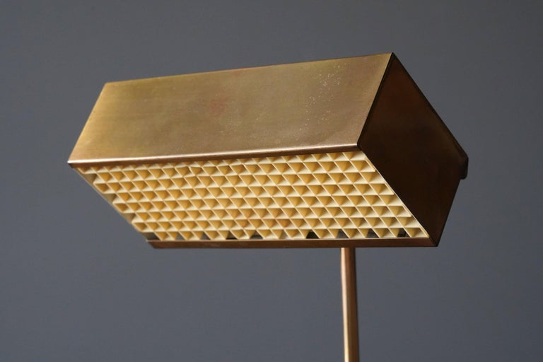 """Björn Svensson, Adjustable """"Elidus"""" Table Lamp, Brass, Sweden, 1970s In Good Condition For Sale In West Palm Beach, FL"""
