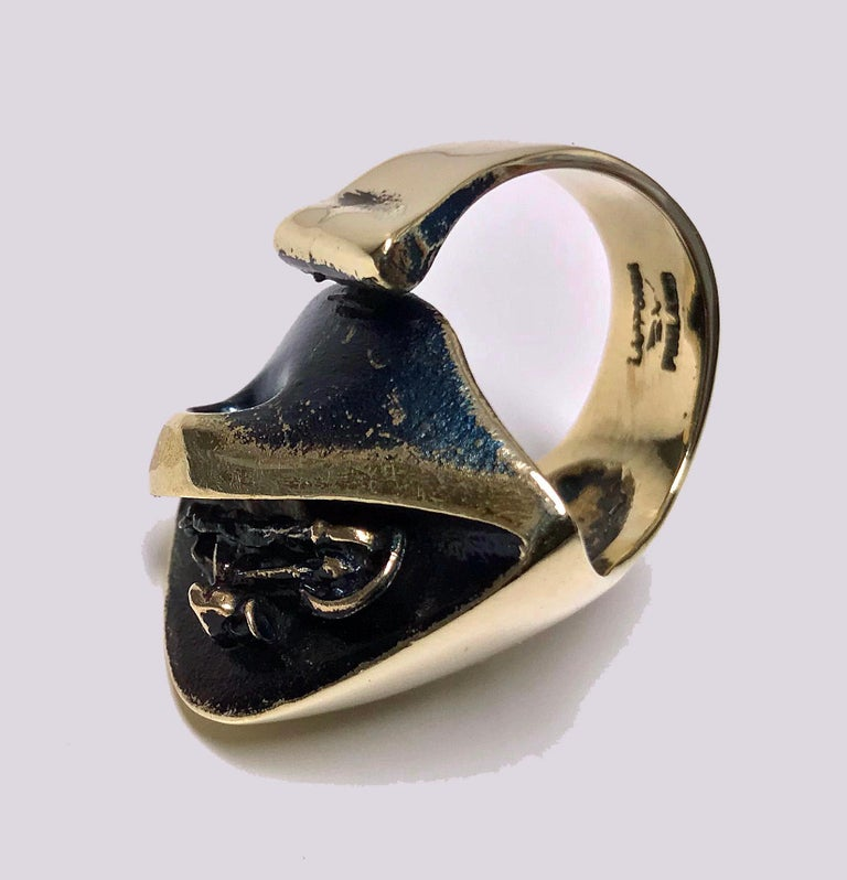 Modernist Björn Weckström for Lapponia Abstract Ring, circa 1970 For Sale