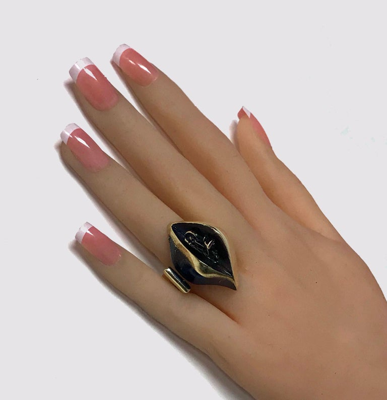 Women's or Men's Björn Weckström for Lapponia Abstract Ring, circa 1970 For Sale