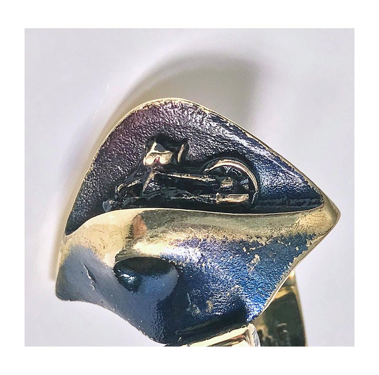 Björn Weckström for Lapponia Abstract Ring, circa 1970 For Sale 1