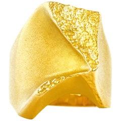 Bjorn Weckstrom for Lapponia Modernist Gold Ring