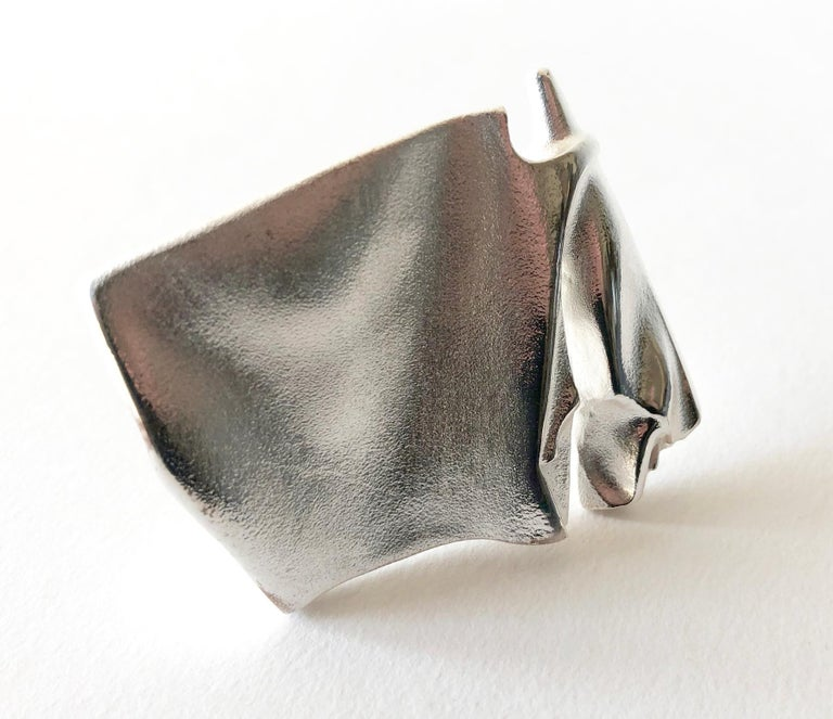 Sterling silver brooch by master jeweler and sculptor Bjorn Weckstrom of Finland.  Brooch measures 7/8