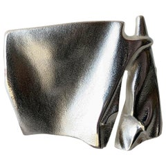 Bjorn Weckstrom for Lapponia Sterling Silver Finnish Modernist Space Age Brooch
