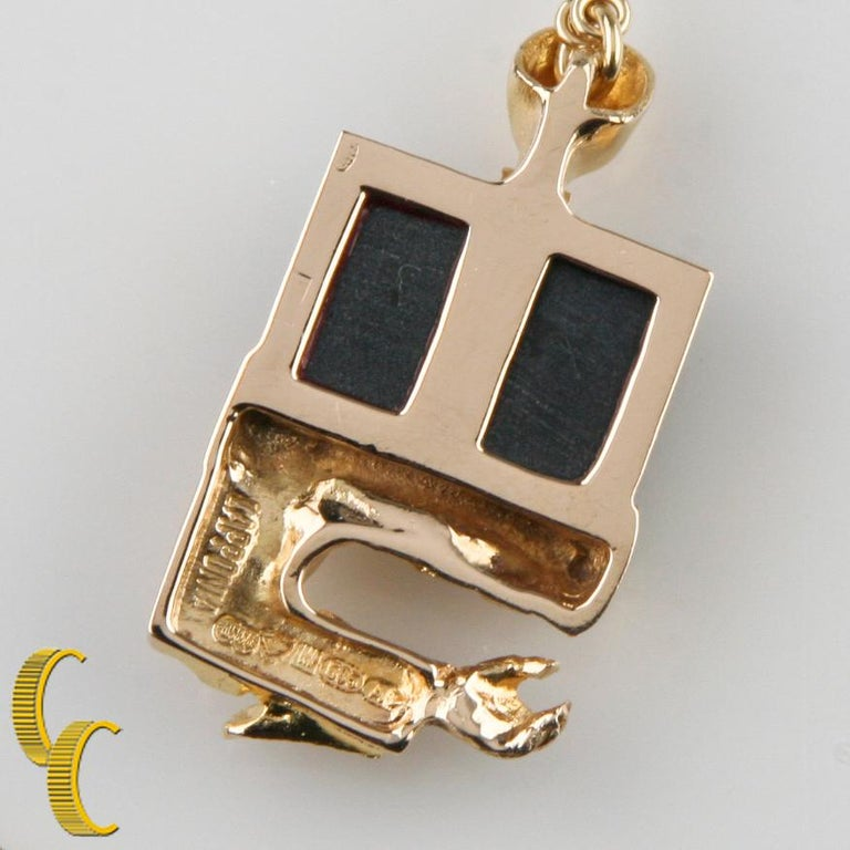 Bjorn Weckstrom Lapponia Black Opal 14 Karat Yellow Gold 1970s Vintage Necklace For Sale 1
