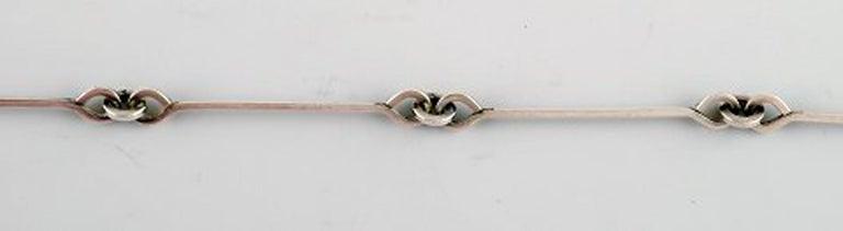 Björn Weckström, Lapponia, Finland, Vintage Modernist Necklace, Sterling Silver In Good Condition For Sale In bronshoj, DK