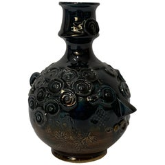 Bjorn Wiinblad Blue House Ceramic Face Candle Holder