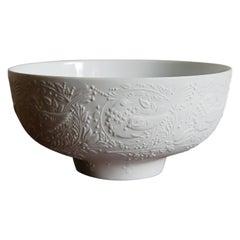 Björn Wiinblad for Rosendhal Studio Linie White Porcelain Bowl, 1970s