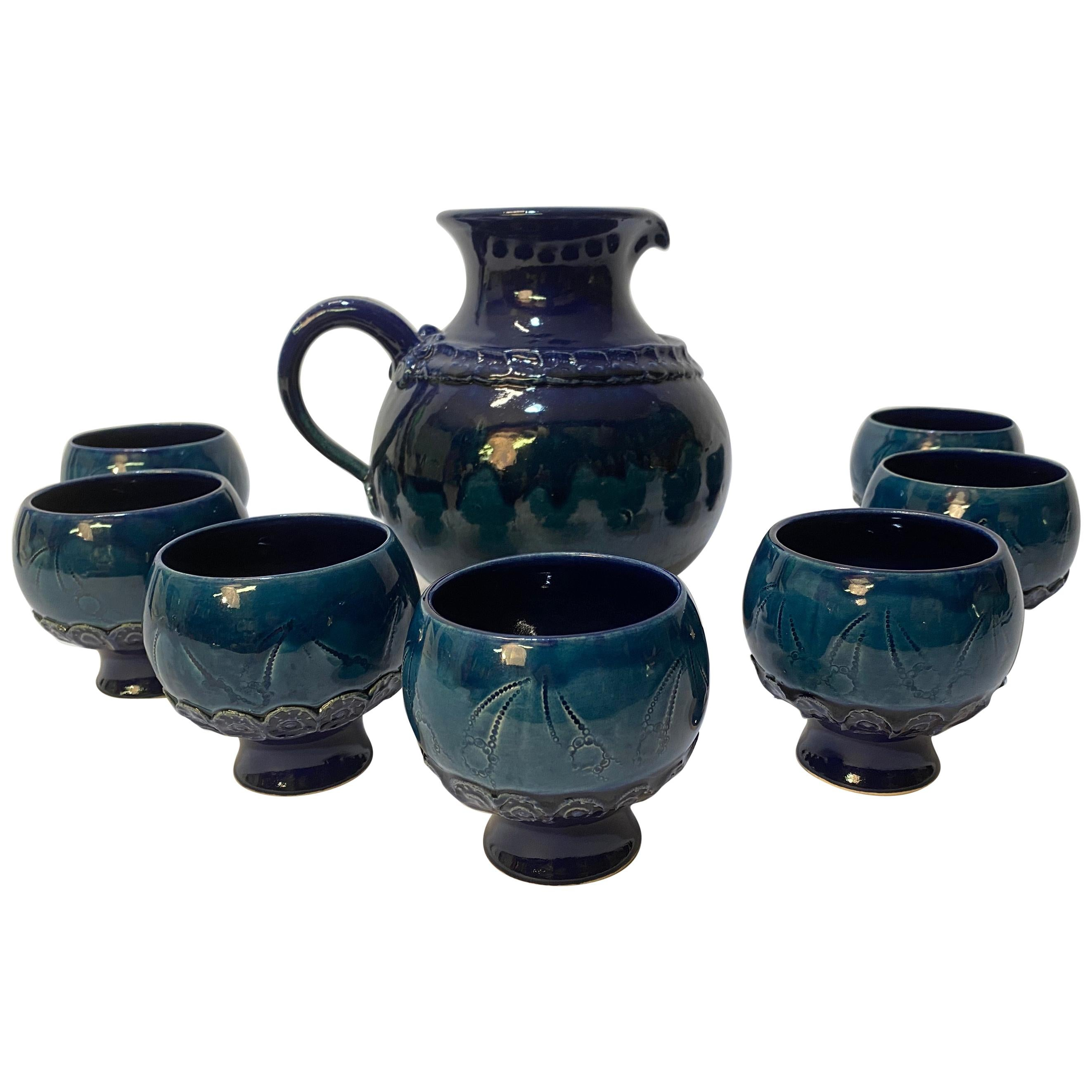 Bjorn Wiinblad for Rosenthal Pitcher and Cups