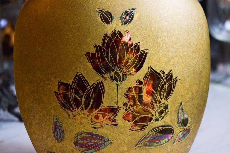20th Century Bjorn Wiinblad Gold Vase For Sale