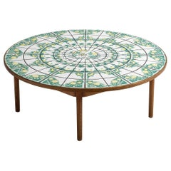 Bjorn Wiinblad Green Ceramic Coffee Table