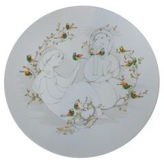 Bjorn Wiinblad Large Porcelain Charger Platter for Rosenthal Studio Linie