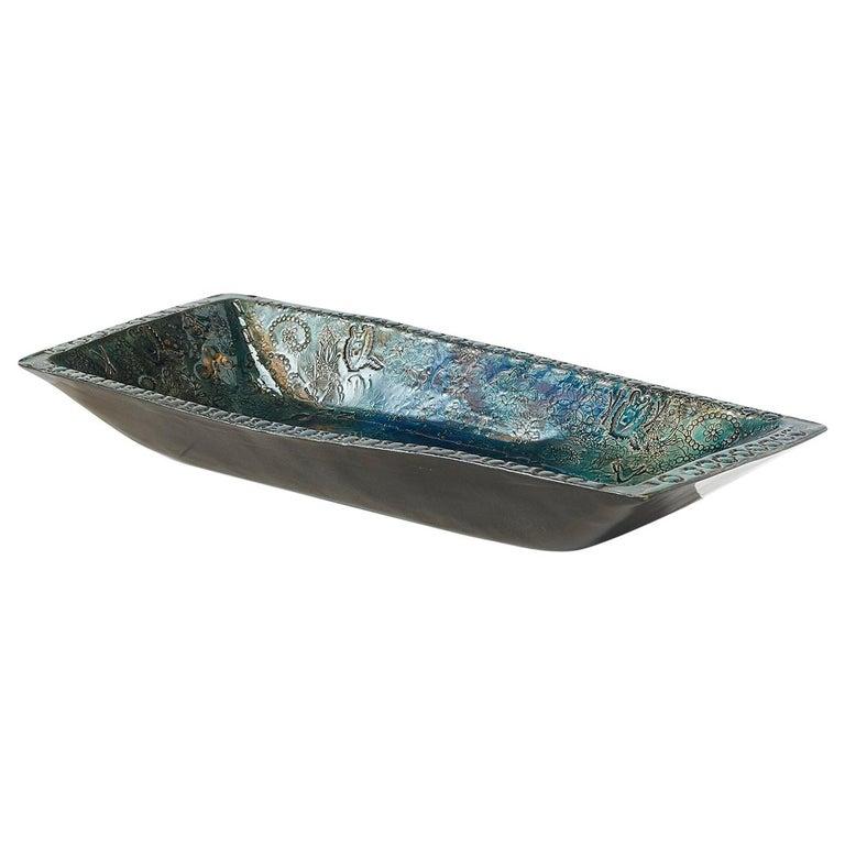 Bjorn Wiinblad, Oblong Ceramic Tray For Sale