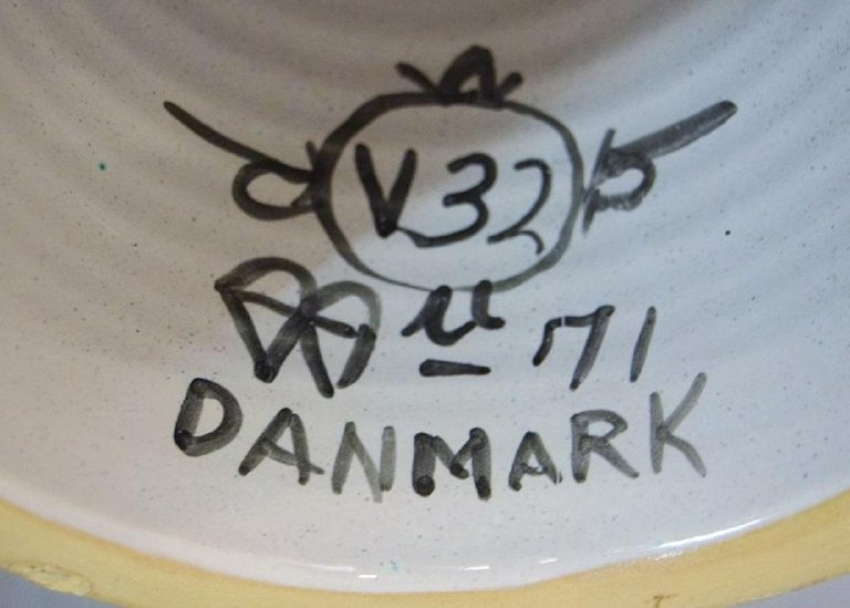 Bjørn Wiinblad, Denmark, Giant Vase in Hand-Painted Glazed Ceramics For Sale 4