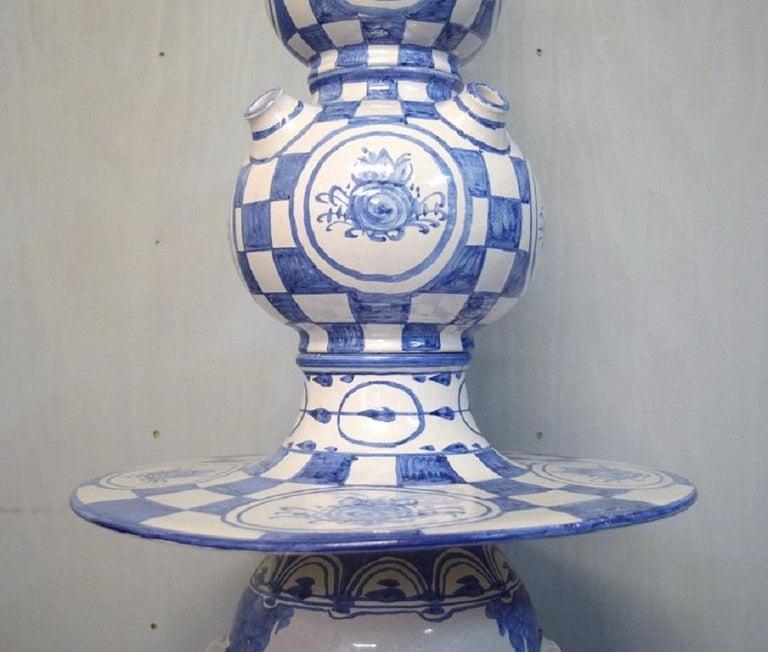Scandinavian Modern Bjørn Wiinblad, Denmark, Giant Vase in Hand-Painted Glazed Ceramics For Sale