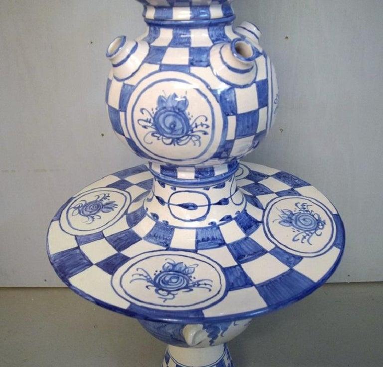 Bjørn Wiinblad, Denmark, Giant Vase in Hand-Painted Glazed Ceramics For Sale 1