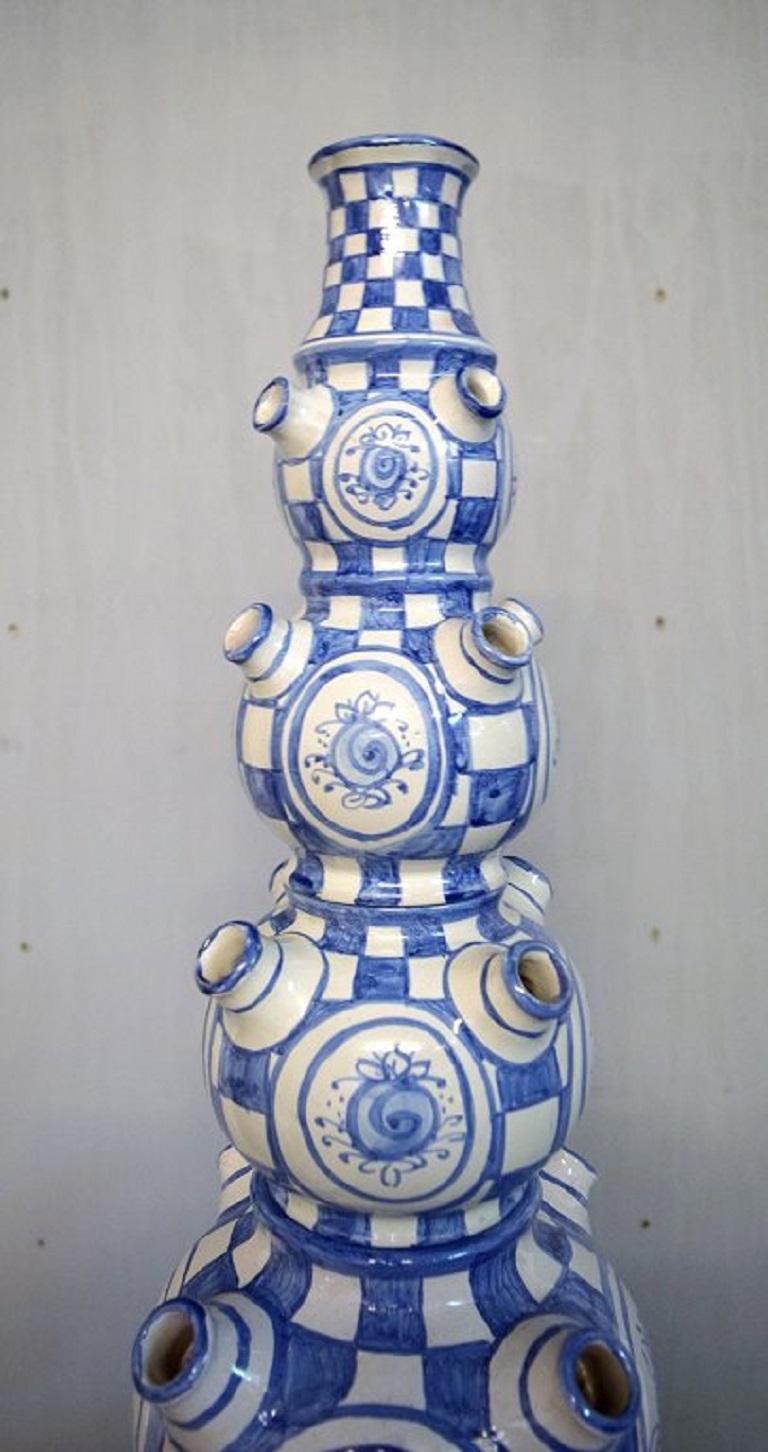 Bjørn Wiinblad, Denmark, Giant Vase in Hand-Painted Glazed Ceramics For Sale 2