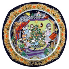 Bjørn Wiinblad for Rosenthal, Christmas Plate in Porcelain from 1986