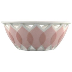 "Bjørn Wiinblad for Rosenthal, ""Lotus"" Porcelain Service, Pierced Bowl, 1980s"
