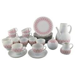 """Bjørn Wiinblad for Rosenthal. Pink """"Lotus"""" Porcelain Coffee Service for 12 P"""