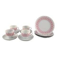 """Bjørn Wiinblad for Rosenthal, Pink """"Lotus"""" Porcelain Coffee Service for Four P."""