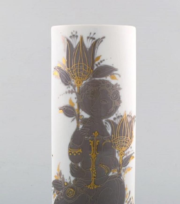 Modern Bjørn Wiinblad for Rosenthal Studio Line, Porcelain Vase, 1980s For Sale